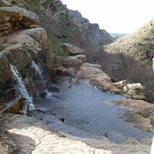fuente de bautismo- vista de parte de las cascadas