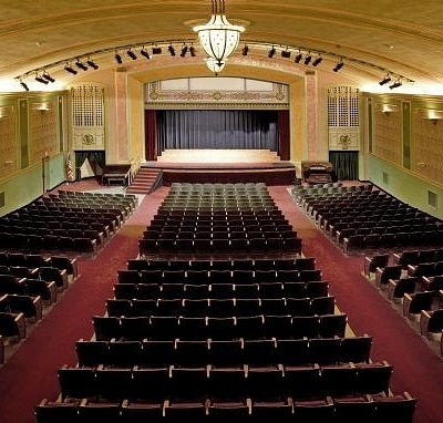 Overhead shot of the Historic Temple Theatre seating.