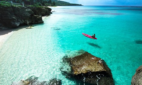 Taga Beach, Tinian. Photo by Junji Takasago