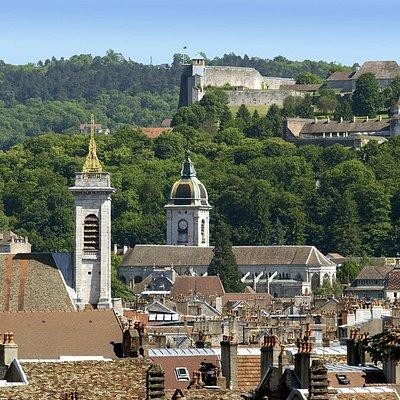La vieille ville de Besançon vue depuis le Fort Griffon