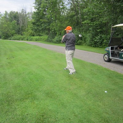 At age 87 it is cart path golf. Way to go Herb