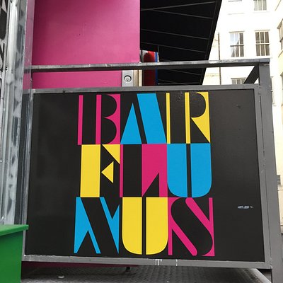 Bar Fluxus Sign Entrance 18 Harlan Pl. SF 94108