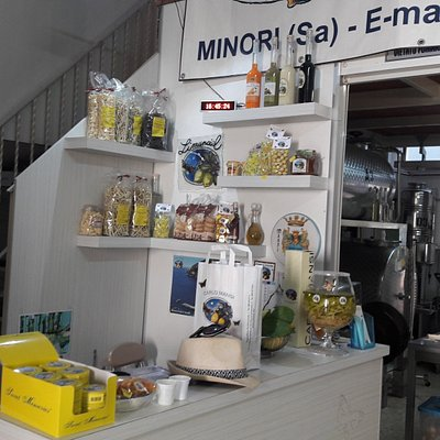 inside store and tiny factory