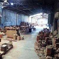 La nave de la Fabrica con sus piezas almacenadas