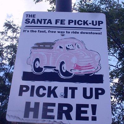 Santa Fe Pick-up -- free shuttle bus service at visitor center