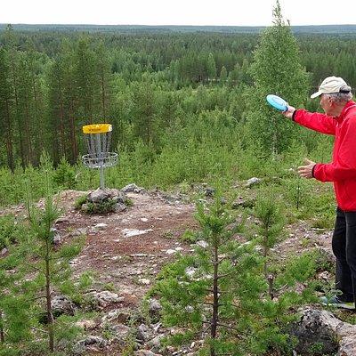 Naamivaara Disc Golf in Pello in Lapland: general view