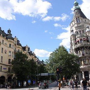 edifici sulla piazza
