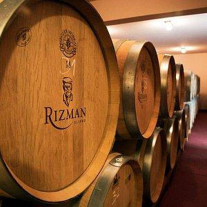Winery Rizman - barrels room