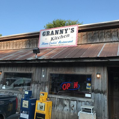 This is the front of the restaurant. They did a good job making it look rustic.
