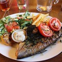 Fresh food and huge portions