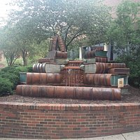 Sculpture outside of the library
