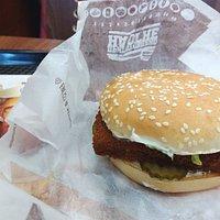 My fish burger: tasty!