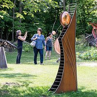 Forest Edge Gallery hides a sculpture garden in the Minnesota north woods.