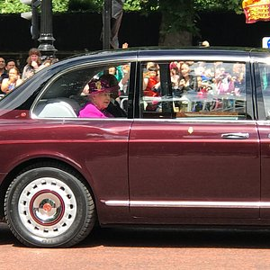 Seeing Her Majesty, Queen Elizabeth II on our tour!