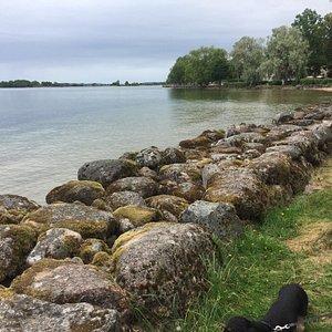 Vadstena aan Lake Vättern