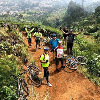 Adventure in the puncak tea plantation
