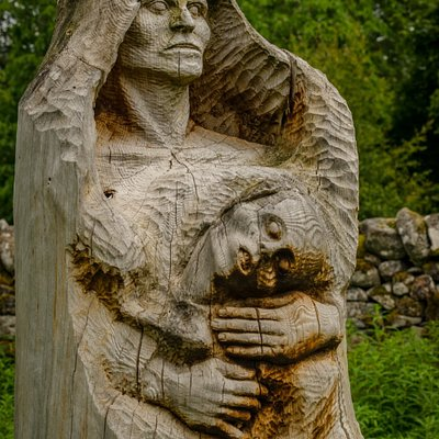 Thought provoking sculptures, made from all natural materials.