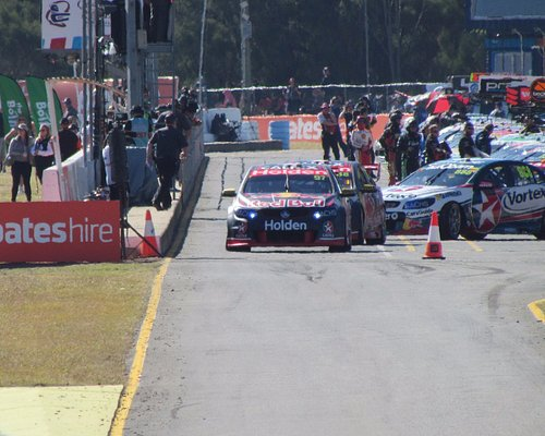 Exiting the pits