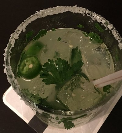 Try this - Rattlesnake Margarita... spicy with jalapeños, cilantro and lots more!!