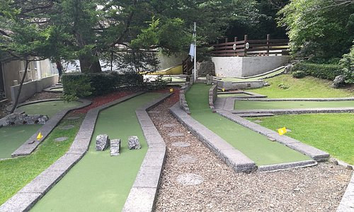 3/4 of the 18 hole crazy golf course