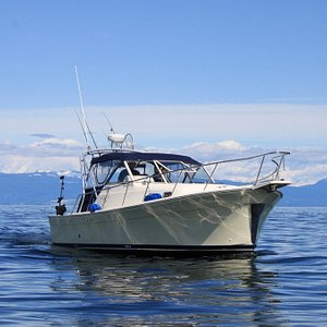 The Haida Gold - 30ft Mainship Pilot Rum Runner II with covered seating and fully enclosed washr