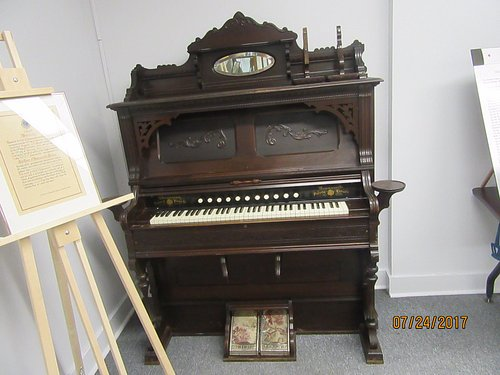 An organ made by a local company.  Unfortunately, the company and its factory have disappeared
