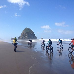 Beautiful beaches! with the fatbikes you can bicycle over them with ease!
