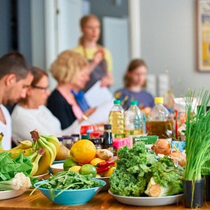 Vegan cooking class, 2016