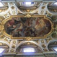Fresco en la Boveda representando la muerte y apoteosis de San Luis