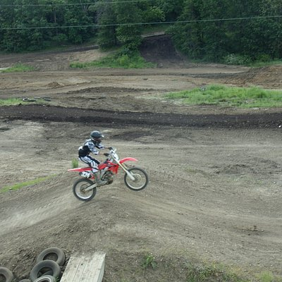 The motocross track at Finger Lakes State Park