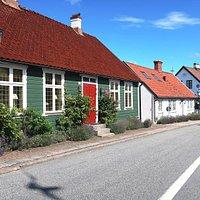 Agardhsgatan i Båstad en sommardag. Foto: Lina Hiltunen.