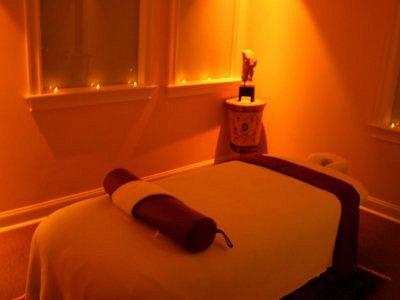 Massage room at Deluca