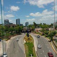 Fotografía tomada desde la zona de comida del centro comercial Galerías Tabasco