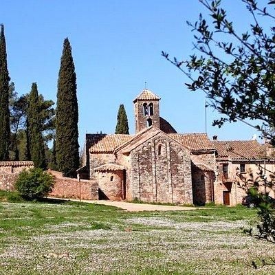 Església de Sant Sebastià de Montmajor, Caldes de Montbui (Barcelone, Catalogne), Espagne.