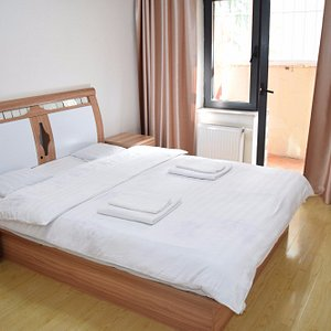 This is one of our double bed rooms with shared bathroom.