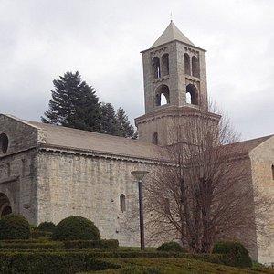 Monestir de Sant Pere, Camprodon (Ripollès, Gérone, Catalogne), Espagne.