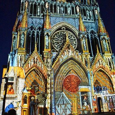 Lys og Lyd Domkirken i Reims