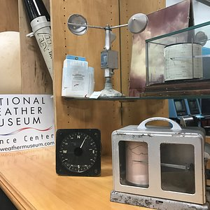 Only a handful of many weather artifacts on display