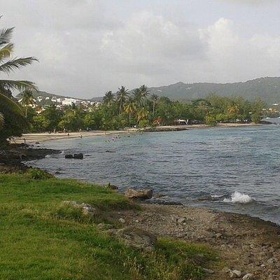 Vue des deux plages