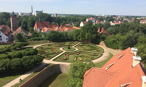 View from the top floor of the castle
