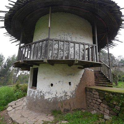 Eines der Gebäude
