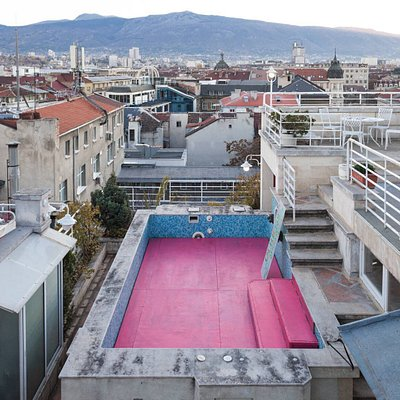 A young space for contemporary art with a fantastic view over Sofia's rooftops.