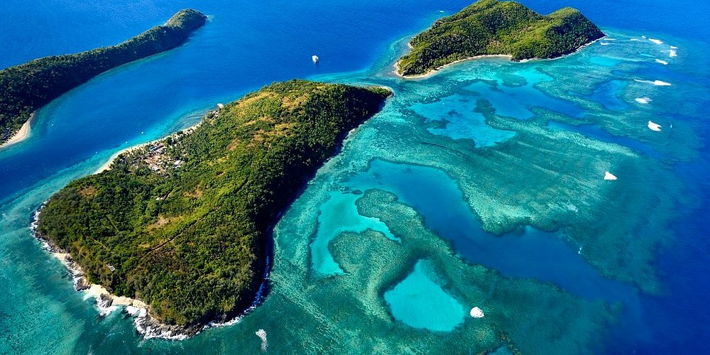 Aerial Photo of the archipelago of the Outer Fijian Islands