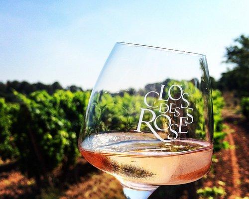 Verre de rosé Clos des Roses
