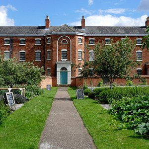 The workhouse viewed from the vegetable gardens