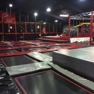Trampolines at Funky Warehouse