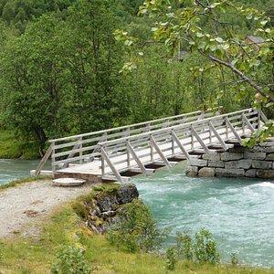 Petit pont en début de rando