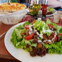 Salat mit Putenflesich