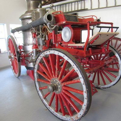 Restored piece of equipment that was horse drawn