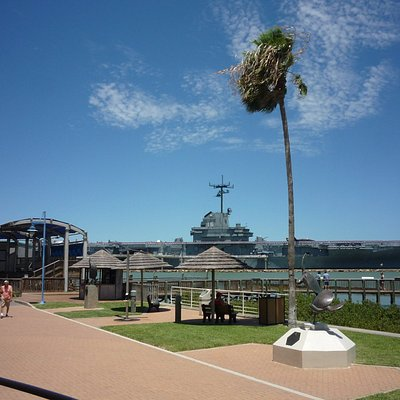 The USS Lexington, another great local attraction, is parked to the north.